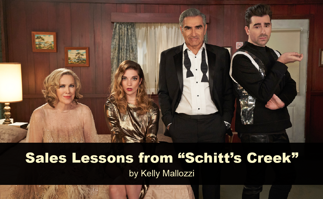 sales lessons from Schitt's Creek