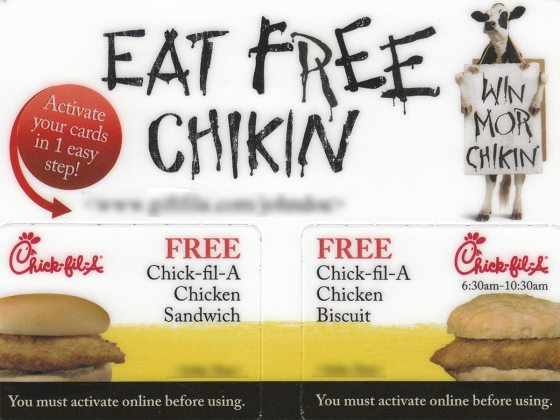chick-fil-a integrated campaign direct mail postcard