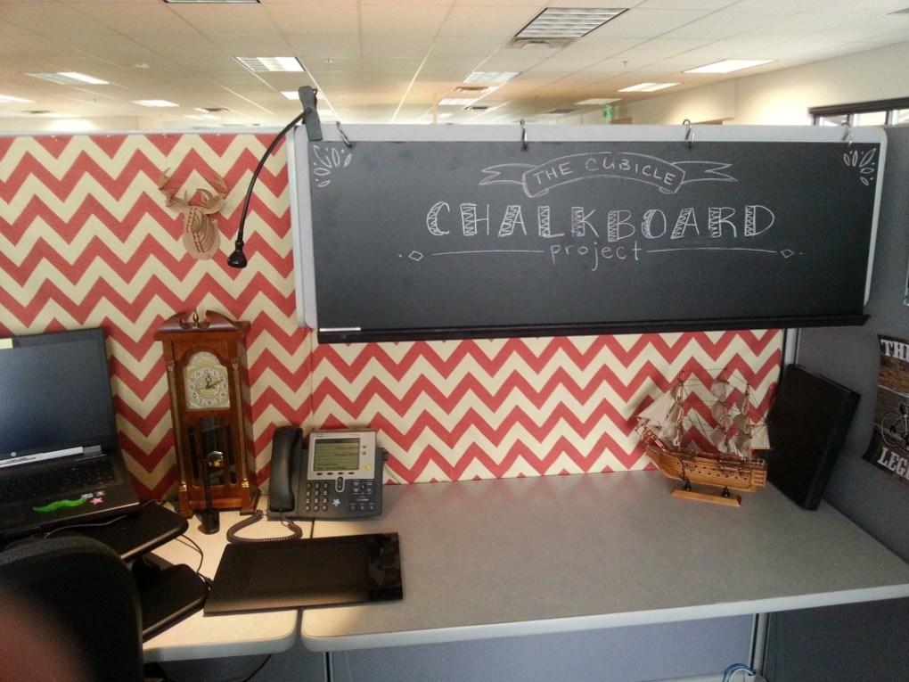 Cubicle Chalkboard