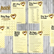 8 Monkey Baby Shower Games Package