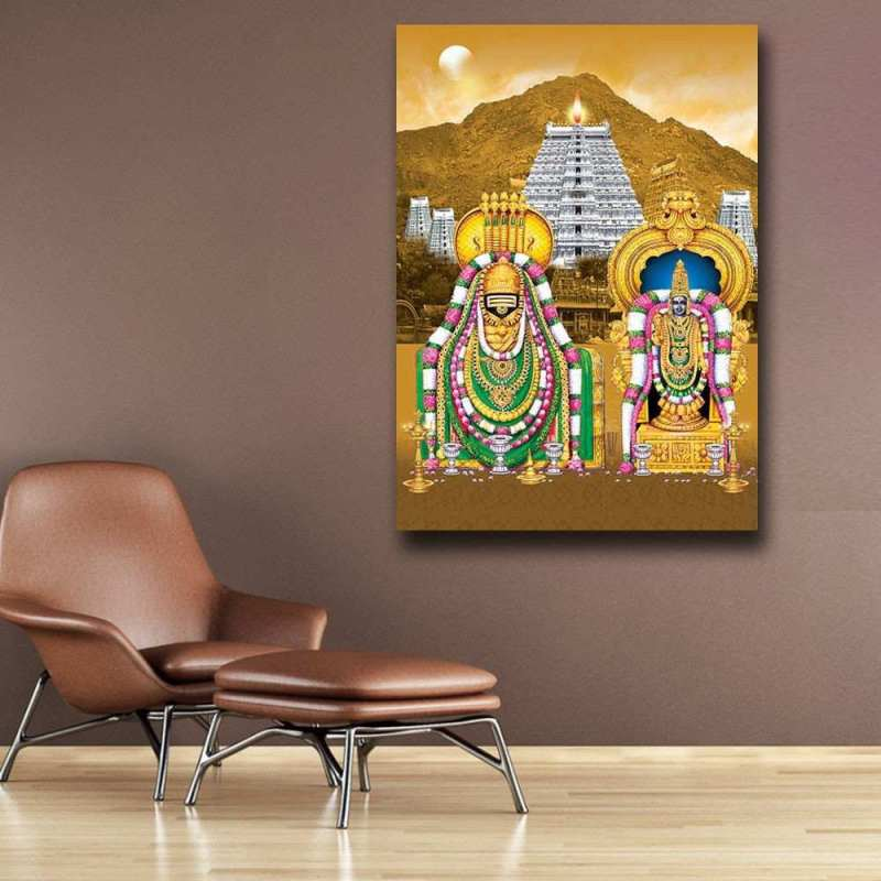 Mahalakshmi and Balaji Wall Art Painting
