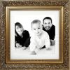 4 Canvas Tiles Print size 20 X 20 cm (Gold 3D frame effect)