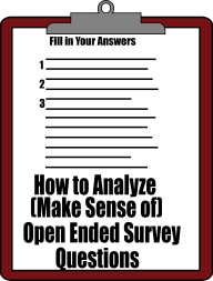 Analyze Open Ended Survey Questions