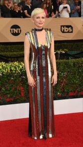 Michelle Williams in Louis Vuitton. CNN Entertainment Online: Jordan Strauss/Invision/AP