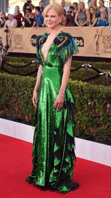 Nicole Kidman in Gucci. CNN Entertainment Online: Frazer Harrison/Getty Images