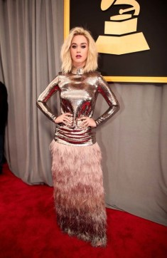 Katy Perry in Tom Ford. Grammys 2017. Image source: Vogue Australia