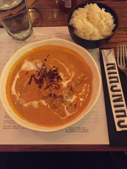 Butter Chicken at Chin Chin, Melbourne. Print On Print 2017.