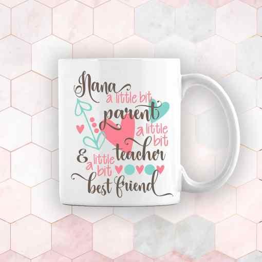 personalised mothers day gift mug for nana