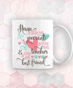 personalised mothers day gift mug for nana