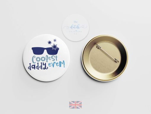 Coolest Daddy Ever - Badge (Perfect Gift for Fathers Day 2020)