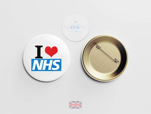 I Love NHS Badge (National Health Service Badge)