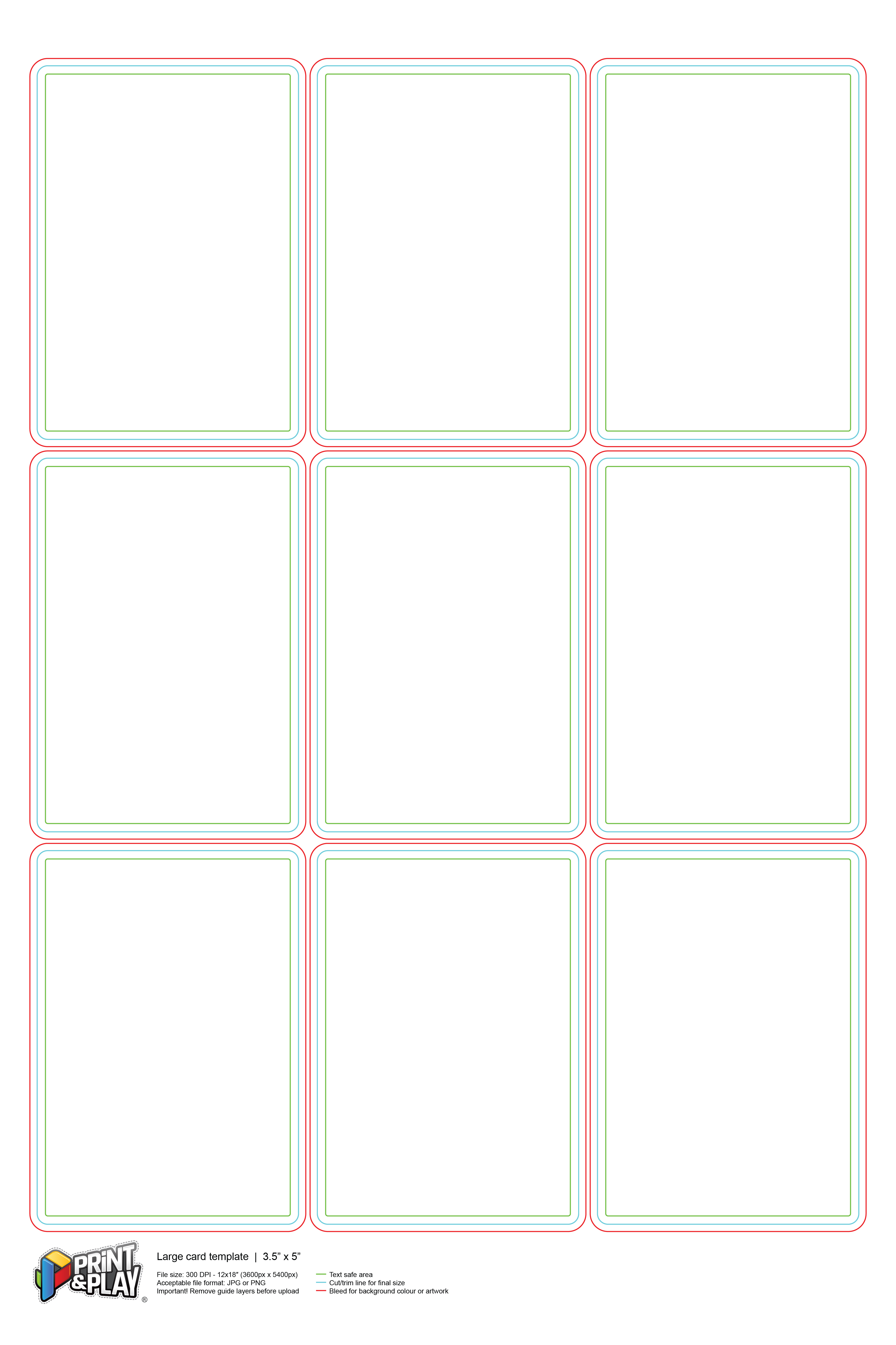 Playing Cards Formatting Templates Print Play