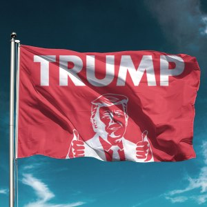 Trump 2020 Thumbs Up Red Flag
