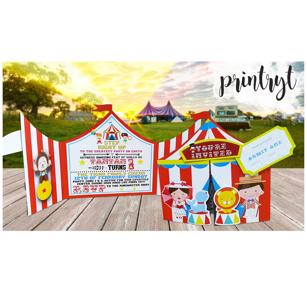 carnival themed birthday invitation printryt incorporated