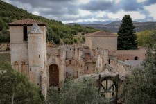 Ruins of abandoned monastery in Castile-León, Spain