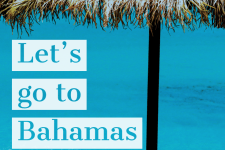 "Travel Poster ""Let us go to Bahamas"""