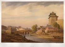 RARE: Peking: Camels resting on the Grand Canal. Drawn from life during the diplomatic mission of Prince zu Eulanberg to China, Japan & Siam 1859-62.