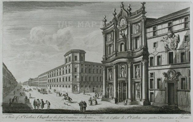 Sayer: Rome. Antique copper engraving, 1774. 18 x 12 inches. [ITp2050]