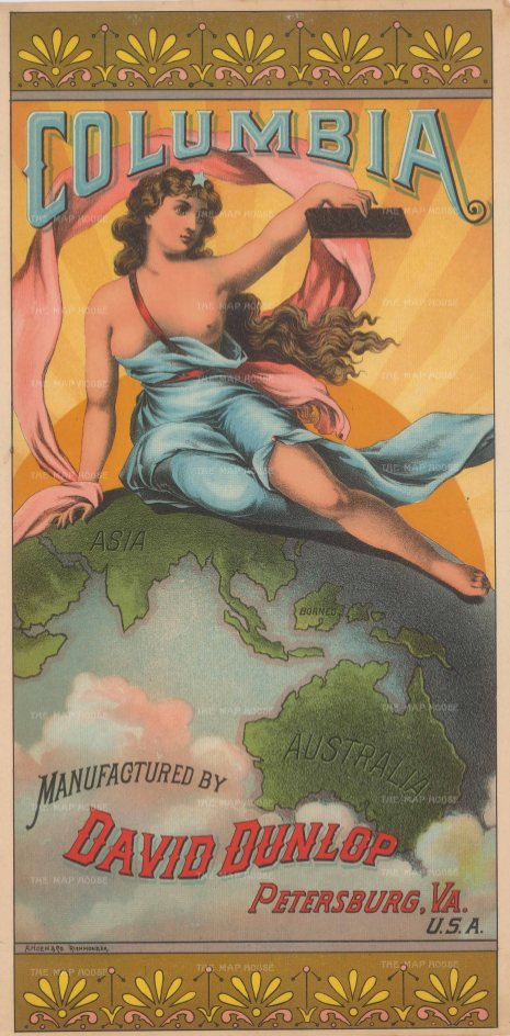 Columbia Tobacco: David Dunlop's advertisement for the World's Fair in Chicago 1893.