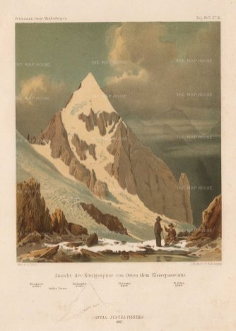 Von Payer: Alps, 1869. Original antique chromo-lithograph. 7 x 10 inches. [ITp2213]