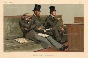 'Babble, Birth and Brummagem'. Treasury Bench. William Gladstone, Duke of Devonshire and Joseph Chamberlain.