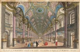 """Vue D'Optique: St. Martin in the Fields. 1760. An original colour antique copper engraving. 16"""" x 10"""". [LDNp3210]"""