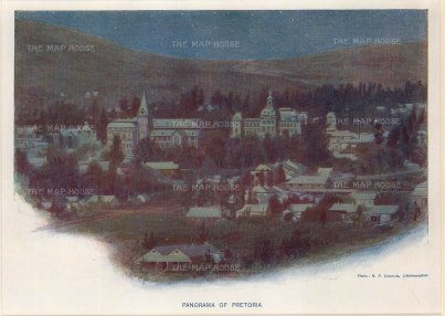 "Edwards: Pretoria. c1920. An original vintage chromolithograph. 9"" x 7"". [AFRp1193]"