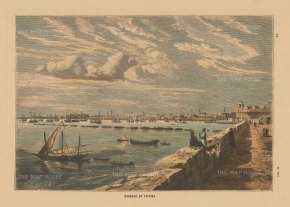 "Collins: Tripoli, Libya. c1880. A hand coloured original antique wood engraving. 8"" x 5"". [AFRp1391]"