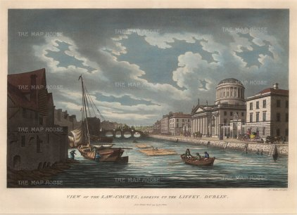 "Malton: Dublin. 1799. A hand coloured original antique aquatint. 15"" x 10"". [IREp299]"