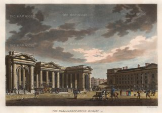 "Malton: Dublin. 1793. A hand coloured original antique aquatint. 17"" x 13"". [IREp379]"