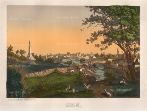 "Silber: Dublin. 1850. An original colour antique lithograph. 15"" x 12"". [IREp464]"