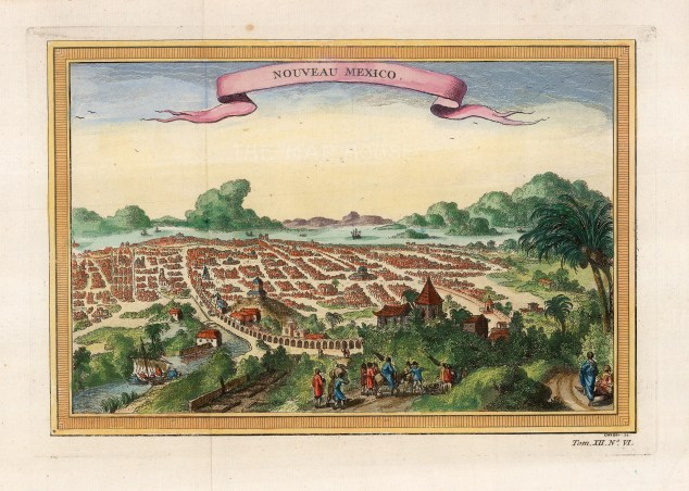 Noveau Mexico: The new Mexico City built upon the Aztec capital of Tenochtitla by the Spanish.
