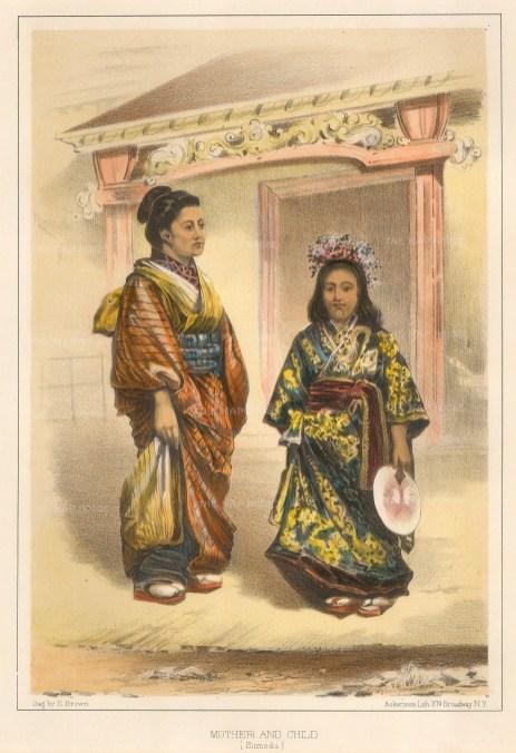 """Perry: Portrait, Shimoda. 1856. A hand coloured original antique lithograph. 7"""" x 10"""". [SEASp1239]"""