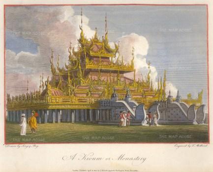 Kioum. An example of a Burmese Buddhist temple and monastery.