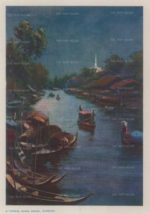 "Norbury: Bangkok. c1913. An original antique chromolithograph. 5"" x 4"". [SEASp1572]"