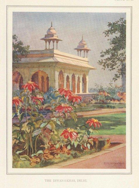 Villiers-Stuart: Delhi. 1918. An original antique chromo-lithograph. 5 x 6 inches. [INDp1418]