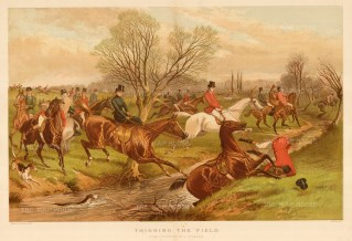 "Lieghton: Fox Hunting. 1888. An original antique chromolithograph. 17"" x 13"". [FIELDp1480]"