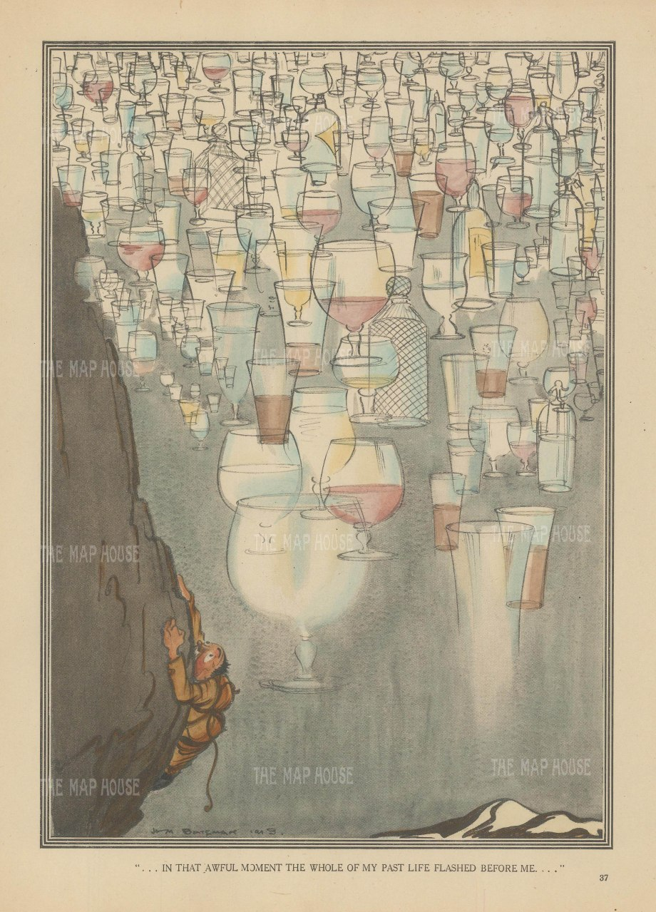 """Bateman: The whole of my life. c1930. A hand coloured orginal vintage lithograph. 7"""" x 102. [MISCp5457]"""
