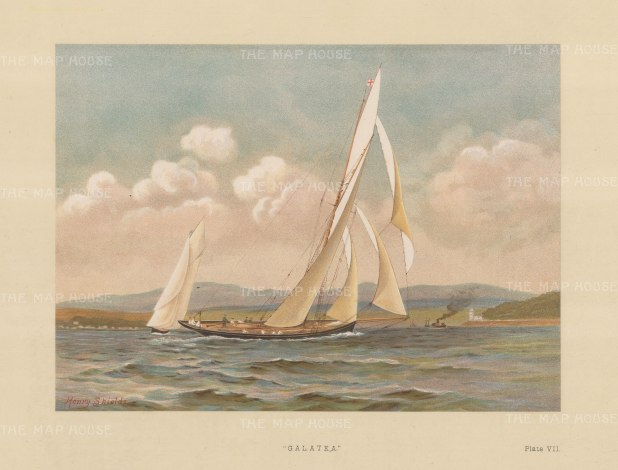 Galatea. 90 ton cutter designed by John Beavor Webb in 1884. Challenger in the 1886 America's Cup