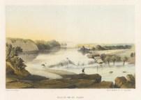 """Sarony: Rio Salado. 1860. An original colour antique lithograph. 8"""" x 6"""". [MEXp131]"""