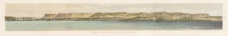 """Capt. Andrews: Muriel Tables. 1860. An original colour antique lithograph. 12"""" x 3"""". [MEXp87]"""