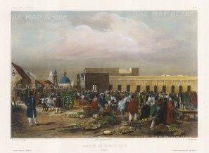 "Capt. Vaillant: Montevideo, Uruguay. c1850. A hand coloured original antique lithograph. 15"" x 10"". [SAMp1301]"