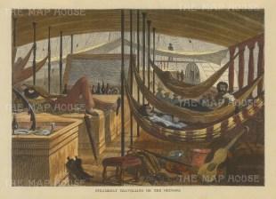 """Brown: Orinoco, Venezuela. 1885. A hand coloured original antique wood engraving. 8"""" x 6"""". [SAMp932]"""