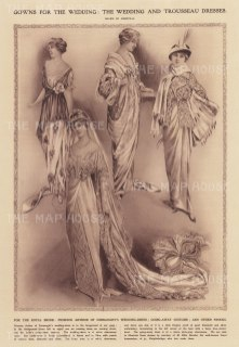Wedding and Trousseau dresses for Princess Alexandra, Duchess of Fife, married to Prince Arthur of Connaught.