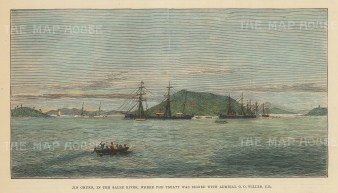 Korea: Jin Chuen on the Salee River: Panoramic view of island where the Brtitish-Korean trade treaty was signed.