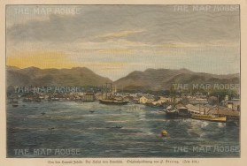 "Anon: Honolulu, Hawaii. c1890. A hand coloured original antique wood engraving. 9"" x 7"". [USAp3968]"