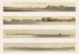 Cuba: Coastal Profile of the North: Profiles of Saddle Hill. Sierra de los Organos, Cape Corientes and Cape Antonio.
