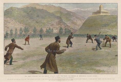 Kabul: Cricket at the court of the Amir Habibullah Khan.