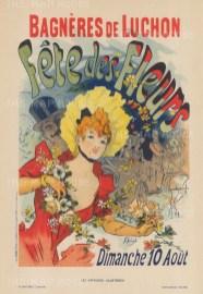 Bagneres de Luchon: Advertisement for the celebrated spa's summer Fetes des Fleurs.