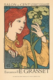 Advertisement for the Exposition of Eugene Grasset, one of the great innovators of Art Nouveau design.